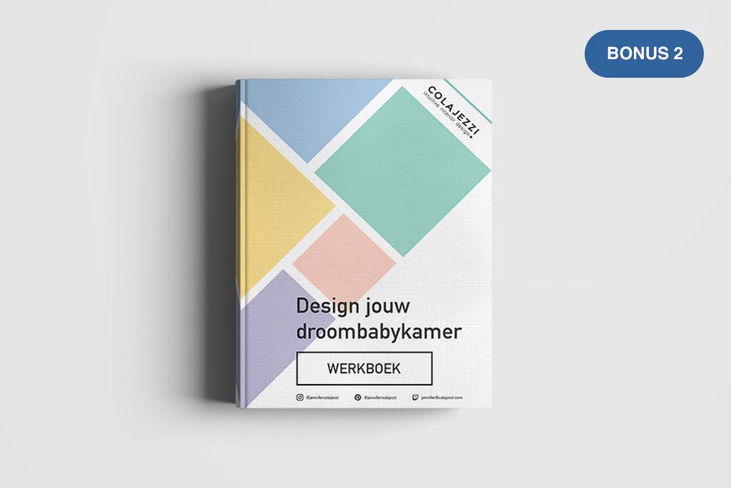 Elke interieur cursus bevat een downloadbaar werkboek met creatieve templates zodat je direct met je ideeën aan de slag kunt!