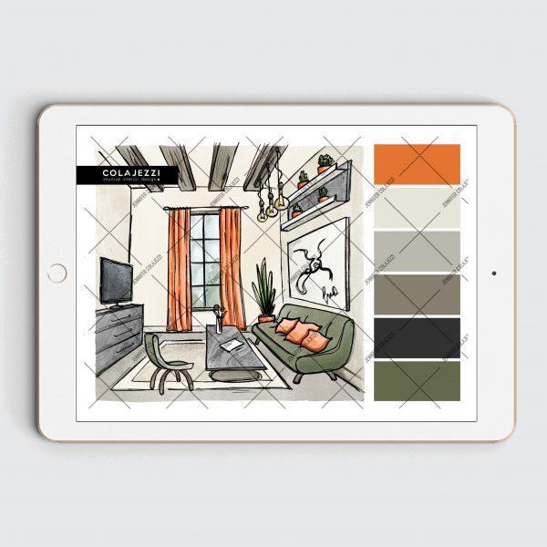 Jennifer-Colajezzi-Digitaal-kleurenpalet-Forest-hues-bos-kleuren