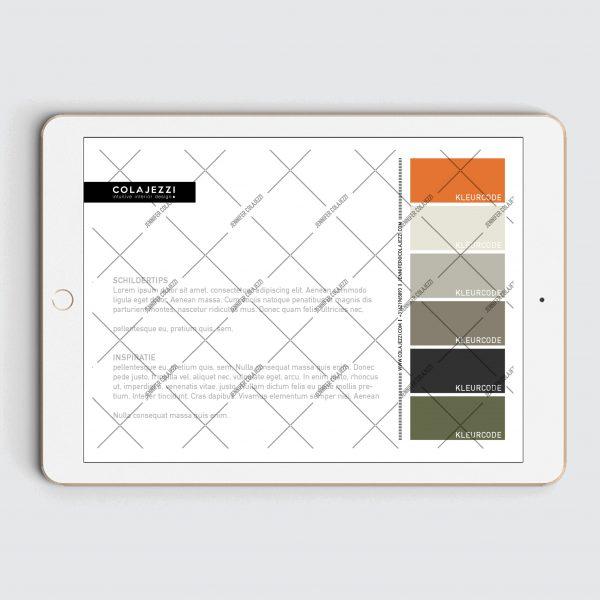 Jennifer-Colajezzi-Digitaal-kleurenpalet-achterkant-Forest-hues-bos-kleuren