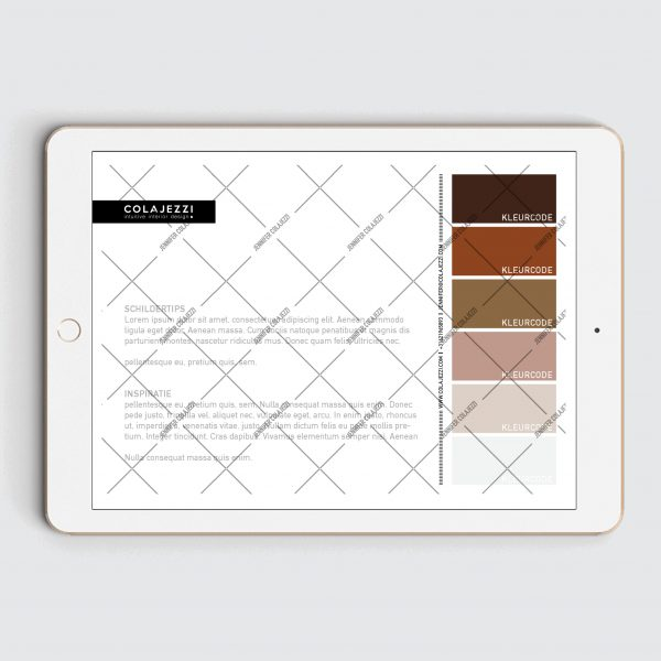 Jennifer Colajezzi - Digitaal kleurenpalet achterkant - Trendy Terracotta