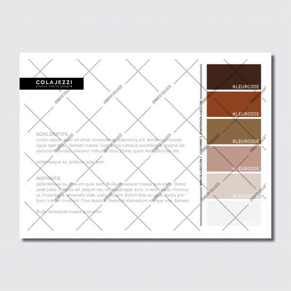 Jennifer Colajezzi - Fysiek kleurenpalet achterkant - Trendy Terracotta