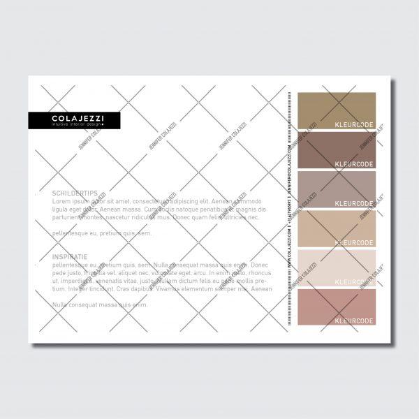 Jennifer Colajezzi - Achterkant kleurenpalet - Earth Tones