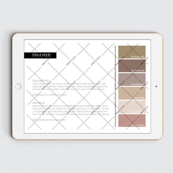 Jennifer Colajezzi - Achterkant Digitaal Kleurenpalet - Earth Tones